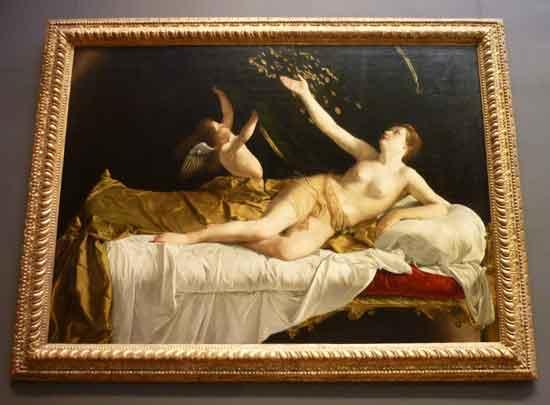 """Orazio Gentileschi, """"Danaë,"""" 1621-22 Photo by Lee Rosenbaum"""