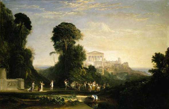 """Turner, """"The Temple of Jupiter Panellenius,"""" 1816 $12.96 million at Sotheby's, January 2009; shown at the Met, July-September 2008"""