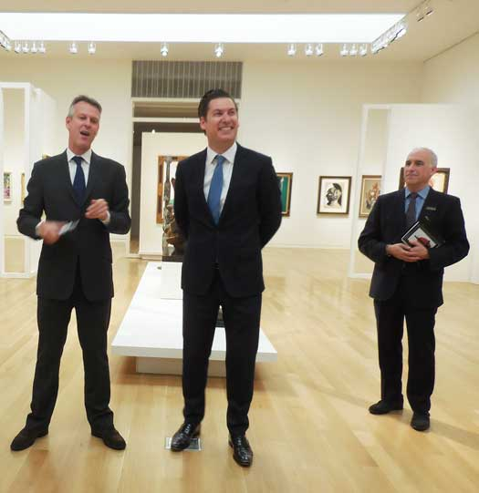 Simon Shaw, Alexander Rotter and David Norman at Sotheby's last Friday Photo by Lee Rosenbaum