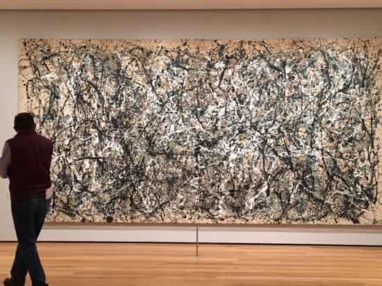 "Pollock, ""One: Number 31, 1950"" Photo by Lee Rosenbaum"