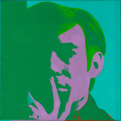 """Warhol, """"Self-Portrait, 1966, Art Institute of Chicago Gift of Edlis