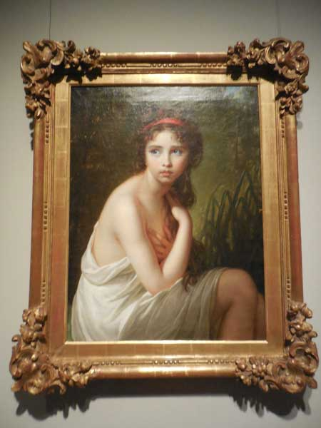 """Julie Le Brun as a Bather,"" 1792, private collection Photo by Lee Rosenbaum"
