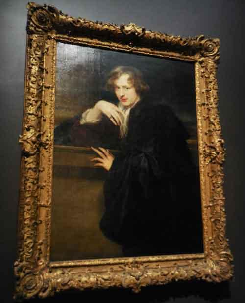 """Self-Portrait,"" 1620-21, Metropolitan Museum Photo by Lee Rosenbaum"