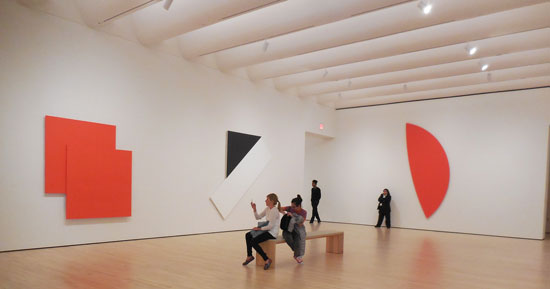 Ellsworth Kelly gallery from the Fisher Collection Photo by Lee Rosenbaum