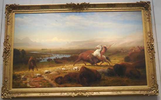 """Albert Bierstadt, """"The Last of the Buffalo,"""" 1888, ex-Corcoran"""