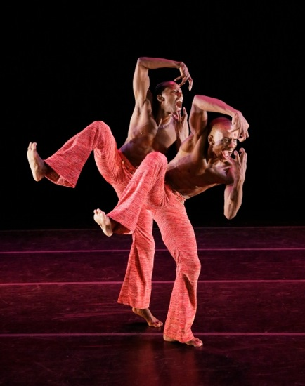 Samuel Lee Roberts(L) and Kirven James Boyd in Robert Battle's Strange Humors. Photo: Paul Kolnik