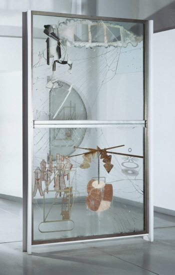 Marcel Duchamp. The Bride Stripped Bare by Her Bachelors, Even  (The Large Glass), 1915-23. Philadelphia Museum of Art
