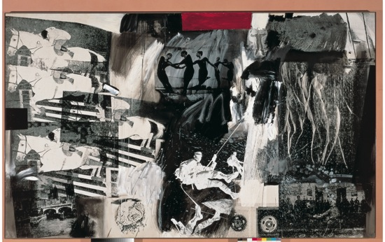 Robert Rauschenberg: Express (1963). ©The Robert Rauschenberg Foundation/Licensed by VAGA, NY, NY