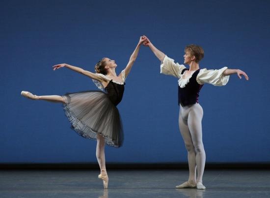 Sterling Hyltin and Chase Finlay in Mozartiana. Photo: Paul Kolnik