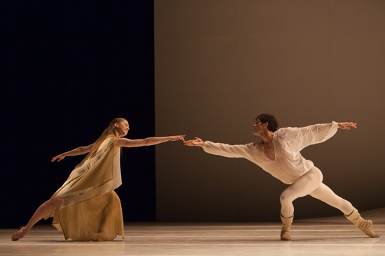Carla Körbes and Seth Orza of Pacific Northwest Ballet in Jean-Christophe Maillot's Roméo et Juliette. Photo: Angela Sterling