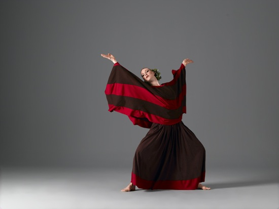 Katherine Crockett as the Chorus in Cave of the Heart. Photo: John Deane