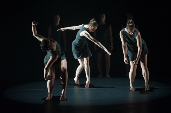 L to R: Kristin Schwab, Julie McMillan, Kelsey Berry in Shift. Photo: Christopher Duggan