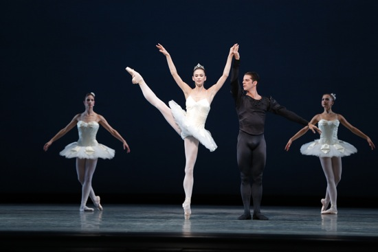 Polina Semionova partnered by Marcelo Gomes in George Balanchine's Symphony in C. Photo: Marty Sohl