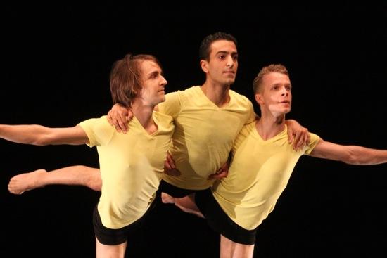 L to R: Timothy Ward, John Eirich, and Ned Sturgis in Dusan Tynek's Apian Way. Photo: Phyllis McCabe