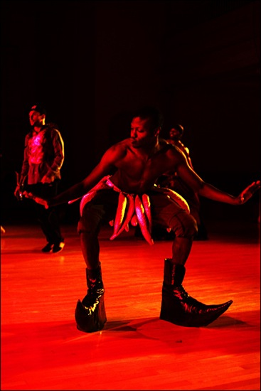 "Dodzi Dougban in ?Culture rehearsal at Danspace. Photo"" Aeric Meredith Goujon"