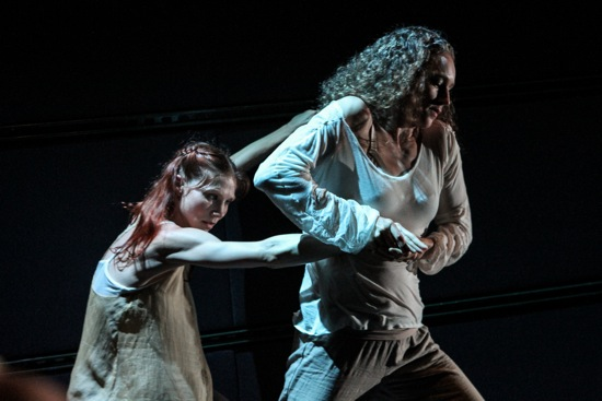 Emily Pope-Blackman (L) and Petra van Noort in Tiffany Mills' The Feast (Part 1). Photo: Julie Lemberger