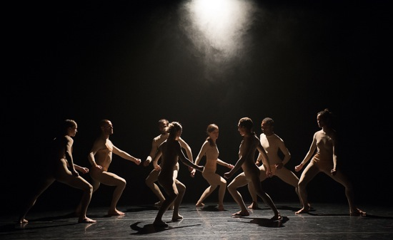 L-E-V dancers in House by Sharon Eyal and Gai Behar. Photo: Christopher Duggan