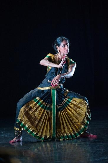 Shantala Shivalingappa in her Kuchipudi solo Bhairava. Photo: Christopher Duggan
