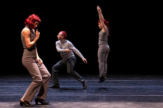 (L to R): Geneviève Boulet, James Phillips, and Audrey Bergeron of O Vertigo. Photo: Em Watson