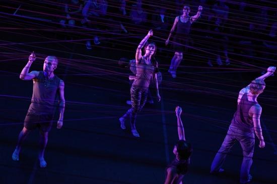 Brian Brooks's Run Don't Run. (L to R): Matthew Albert, Haylee Nichele, Jo-anne Lee (foreground), Carlye Eckert, Bryan Strimpel. Photo: Julieta Cervantes