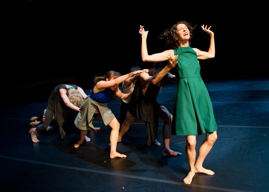Heather Olson supported by colleagues in Tere O'Connor's Bleed. Photo: Ian Douglas
