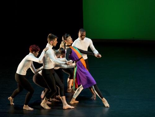 Jin-Ju Song-Begin assisted by (L to R) : Crystal Rodriguez, Jake Deibert, Mark Wilis. (Partly hidden): KylieLevine,Genna Mergola, JullianneCullen. Photo: Marina Levitskaya