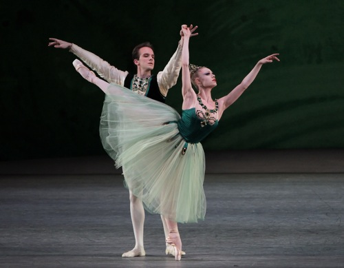 Sara Mearns and Jonathan Stafford in Emeralds. Photo: Paul Kolnik