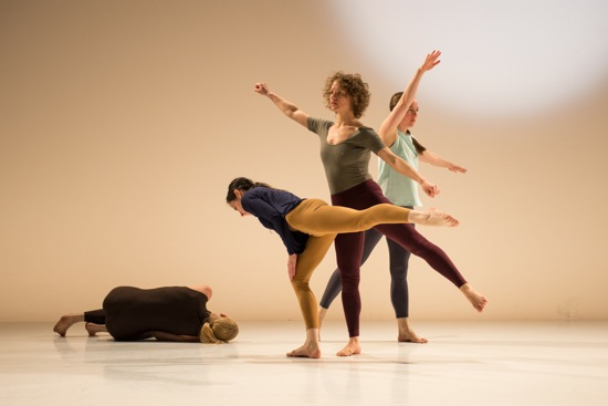 (L to R): Heather Lang, Jennifer Lafferty, Marilyn Maywald, and Christiana Axelsen in Beth Gill's New Work for the Desert. Photo: Cherylynn Tsushima
