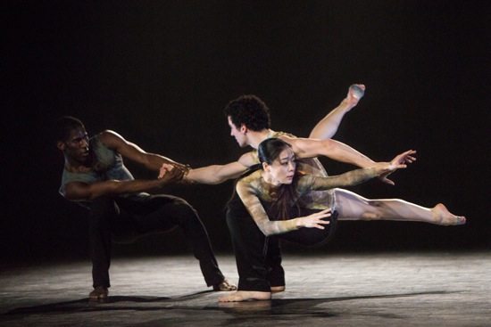 (L to R): Lloyd Knight, Lorenzo Pagano, and Ying Xin in Depak Ine. Photo: Yi-Chun Wu