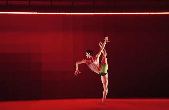 Alvaro Dule of Wayne McGregor/Random Dance in Atomos: Photo: Ravi Deepres