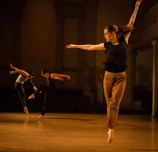 Suzanne Bearhs in her Amid. At back (L to R): Sarah Hillmon and Madeline Wilcox. Photo: Yi-Chun Wu