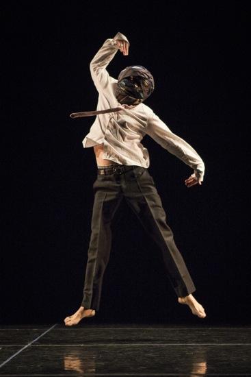 Stephen Petronio in his solo Stripped. Photo: Yi-Chun Wu