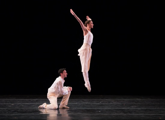 Evan Schwarz and (in air) Taylor Drury in Baker's Dozen. Photo: Rosalie O'Connor