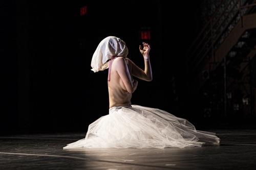 Miki Orihara in Martha Clarke's Nocturne. Photo: Juan Vargas/Ellen Jacobs Associates