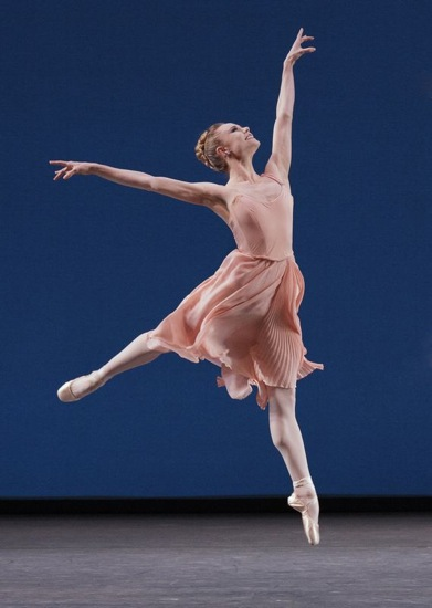Sara Mearns in Balanchine's Allegro Brillante. Photo: Paul Kolnik