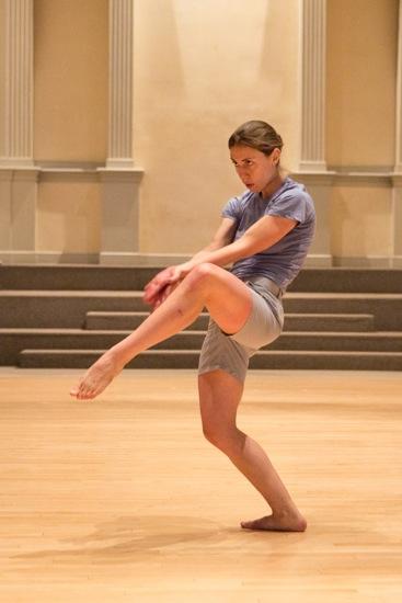 Karina Andreou in DD Dorvillier's A Catalogue of Steps. Photo: Yi-Chun Wu