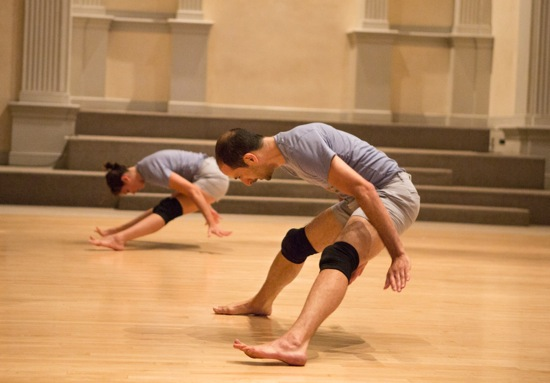 Nibia Pastrana Santiago (L) and Oren Barnoy in A Catalogue of Steps. Photo: Yi-Chun Wu