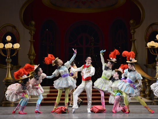 "Craig Salstein as The Peruvian surrounded by some of the ""Cocodettes"" in Leonide Massine's Gaîté Parisienne. Photo: Gene Schiavone"