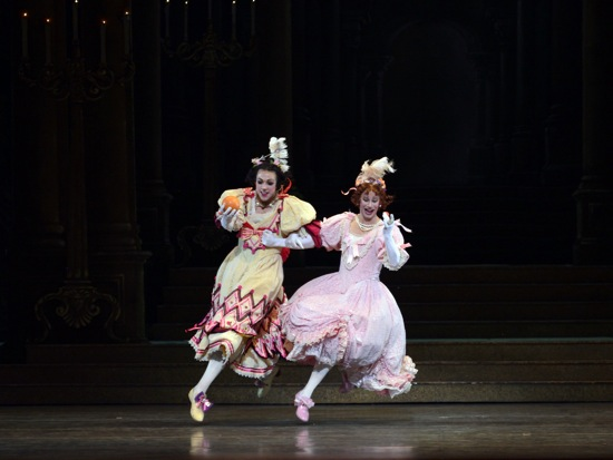 Thomas Forster (L) and Kenneth Easter as the stepsisters in Ashton's Cinderella. Photo: Gene Schiavone
