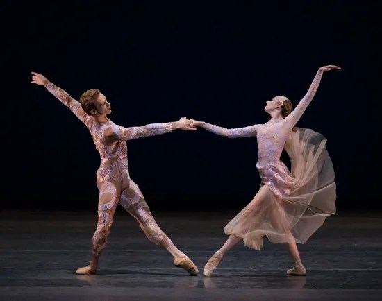 Adrian Danchig-Waring and Ashley Laracey in Justin Peck's Belles-Lettres. Photo: Paul Kolnik