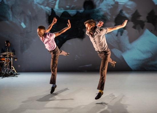 "Jeremy ""Jae"" Neal (L) and Matthew Baker in Kyle Abraham's The Gettin'. Photo Yi-Chun Wu"