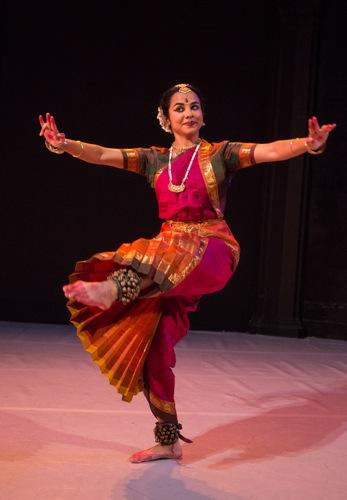 Malini Srinivasan in her Pannagendra Sayana. Photo: Yi-Chun Wu