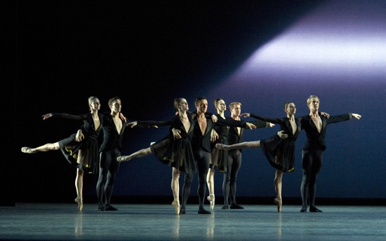 The ensemble in Christopher Wheeldon's Thirteen Diversions. Photo: Gene Schiavone