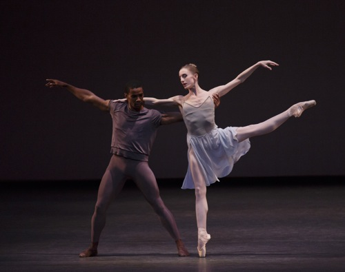 Whelan and Hall in the Wheeldon-Ratmansky By Two, With and From. Photo: Paul Kolnick