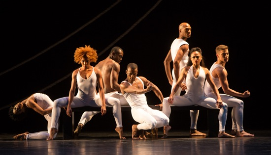Ulysses Dove's Bad Blood (December 5th cast, L to R): Jacqueline Harris, Samantha Figgins, Jamar Roberts, Kirven Douthit-Boyd, Antonio Douthit-Boyd, Linda Celeste Sims, and Michael Francis McBride. Photo: Yi-Chun Wu