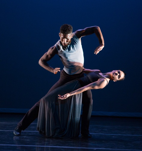 Lloyd Knight and opening night guest artist, ABT's Misty Copeland in At Summer's Full, a rendition of elements from Graham's Letter to the World. Photo: Yi-Chun Wu
