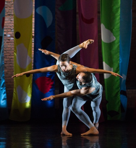 Flora Rogeboz and Adrien Mornet in the Cunningham Event staged by Robert Swinston. Photo: Yi-Chun Wu