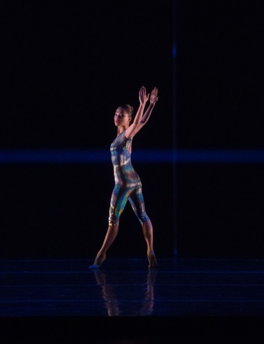 ChaeRy Moon in Merce Cunningham's Biped. Photo: Rosalie O'Connor