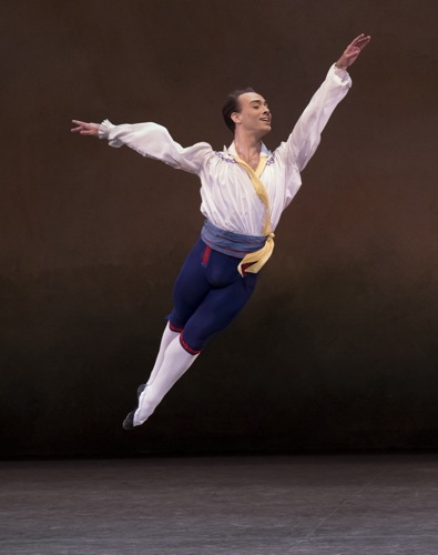 Tyler Angle aloft in the duet from The Flower Festival in Genzano. Photo: Paul Kolnik