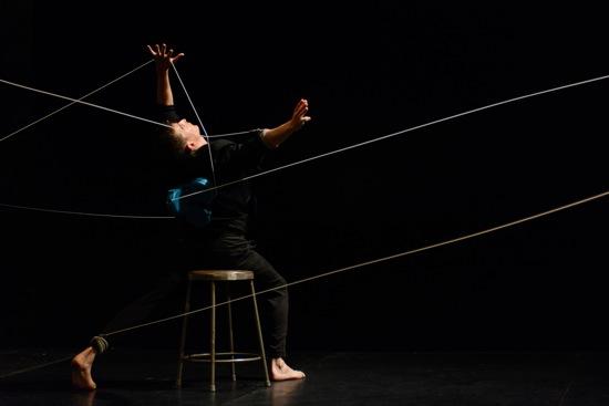 Dylan Crossman in his solo, Bound. Photo: Ryutaro Mishima